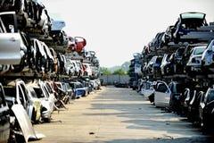 Wrecked car junkyard Royalty Free Stock Photo
