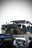 Wrecked car junkyard Royalty Free Stock Image