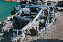 Wrecked car . Royalty Free Stock Photography