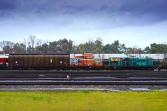 Free Wrecked Cargo Trains Stock Images - 68245274
