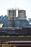 Wrecked cargo trains Royalty Free Stock Photo