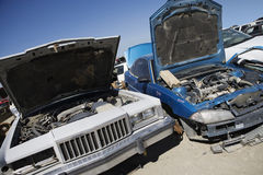 Wrecked Cars Royalty Free Stock Photos