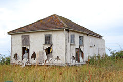 Wrecked chalet bungalow Royalty Free Stock Images