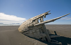 Wrecked fishing boat Royalty Free Stock Images