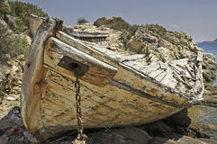 Wrecked fishing boat Royalty Free Stock Photography