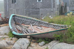Wrecked fishing boat. A beautiful wrecked fishing boat Royalty Free Stock Images