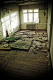Wrecked home. Interiors of a neglected house in really bad condition  filled with mold and devastation Royalty Free Stock Image