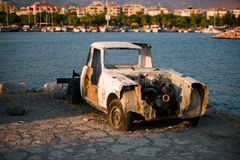 Wrecked and junk car. Stock Images