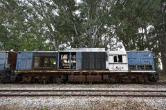 Wrecked locomotive Royalty Free Stock Photography