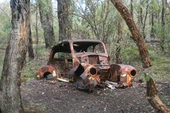 Rusty Rustic Car Royalty Free Stock Images