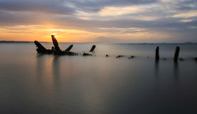 The wrecked ship, Thailand Stock Photography