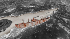 Wrecked ships Stock Image