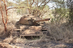 Wrecked tank in South Sudan Stock Images