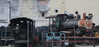 Wrecked train of communism in La Havana Stock Photography