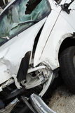 Wrecked Vehicle. Pickup truck which has been in a serious accident Stock Photo