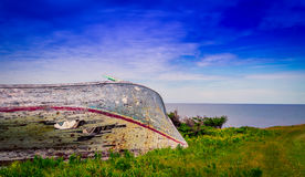Wrecked wooden boat Royalty Free Stock Image