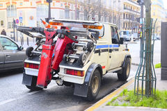 Wrecker on a parking in Paris Stock Photography