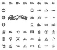 Wreckerikone Gesetzte Ikonen des Transportes und der Logistik Gesetzte Ikonen des Transportes Stockfotografie