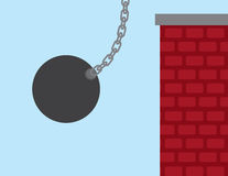 Wrecking Ball Building Royalty Free Stock Image
