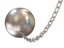 Wrecking ball on white background. 3d Image Stock Photos