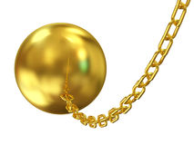 Wrecking ball on white background. 3d Image Royalty Free Stock Photography