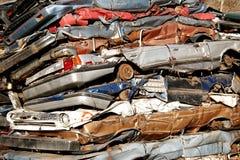 Wrecks. Many car wrecks awaiting for transport Royalty Free Stock Images