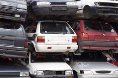 Wrecks at car cemetery. Wrecks on german car cemetery Stock Photography