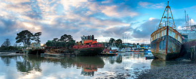 Wrecks on the Tamar Stock Images