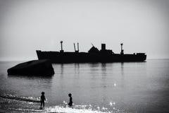 Wreckship Royalty-vrije Stock Afbeeldingen