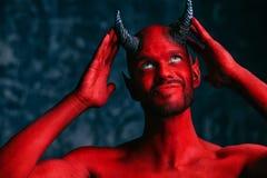 Wrede duivelse mens royalty-vrije stock fotografie
