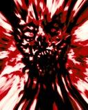 Wrede rode zombie hoofddekking stock illustratie