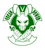Wreedheid-vrij ga de kentekens van het het konijntjesembleem van het veganistbeeldverhaal Royalty-vrije Stock Foto's