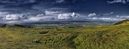 Wrekin View. The Wrekin is a hill outside the town of Wellington in Shropshire and lies in the area of the new town of Telford .The hill itself rises to 1335ft Stock Images