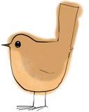 Wren bird. Stylised drawing of a wren bird Stock Photos