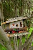 Wren birdhouse with old farm memories Stock Image