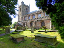 English parish church and churchyard Royalty Free Stock Image