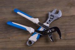 wrench Εργαλείο υδραυλικών στοκ φωτογραφία