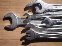 Wrench. A frontal view of wrenchs Royalty Free Stock Photos
