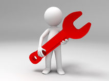 A wrench Royalty Free Stock Images