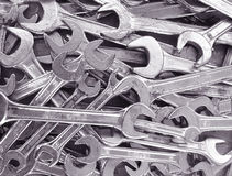 Wrench background. A Background of many wrenches Royalty Free Stock Images