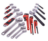 Wrench. A beautiful pattern of wrenches Royalty Free Stock Photos