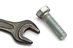 Wrench and bolt Royalty Free Stock Photos