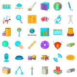 Wrench icons set, cartoon style. Wrench cons set. Cartoon style of 36 wrench vector icons for web isolated on white background royalty free illustration