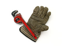 Wrench And Glove Royalty Free Stock Image