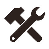 Wrench and hammer. Tools icon Royalty Free Stock Photography