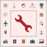 Wrench icon symbol . Elements for your design vector illustration