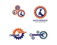wrench icon vector of automotive service illustration royalty free illustration
