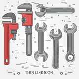 Wrench Icons. Wrench Icons Vector. Wrench Icons Drawing. Wrench Royalty Free Stock Photo