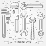 Wrench Icons. Wrench Icons Vector. Wrench Icons Drawing. Wrench Stock Image