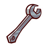 Wrench isolated illustration Royalty Free Stock Photography